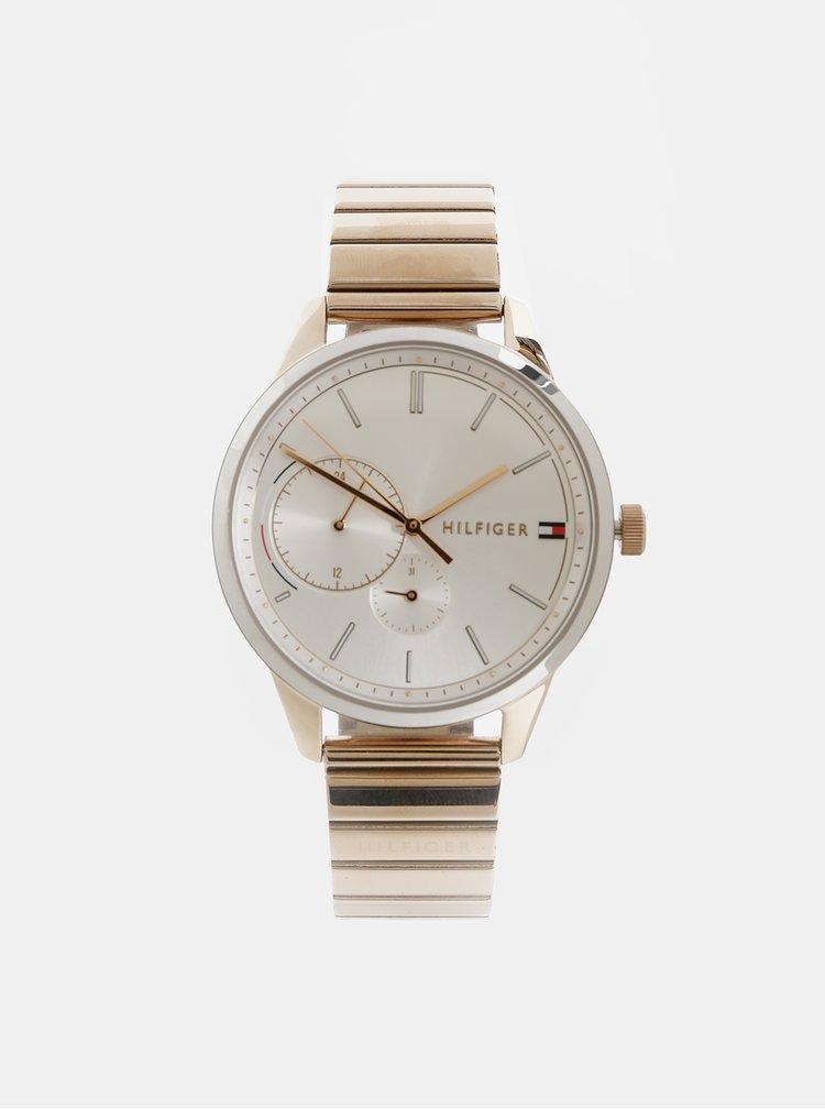 Dámske hodinky s nerezovým remienkom v zlatej farbe Tommy Hilfiger