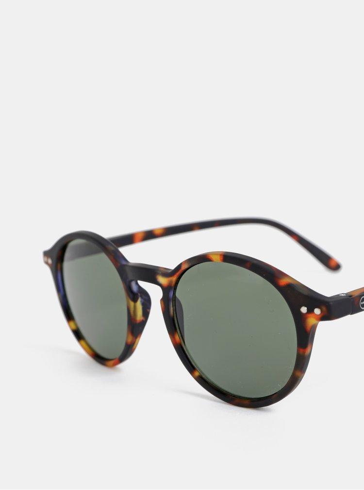 Tmavě hnědé vzorované sluneční brýle IZIPIZI #D