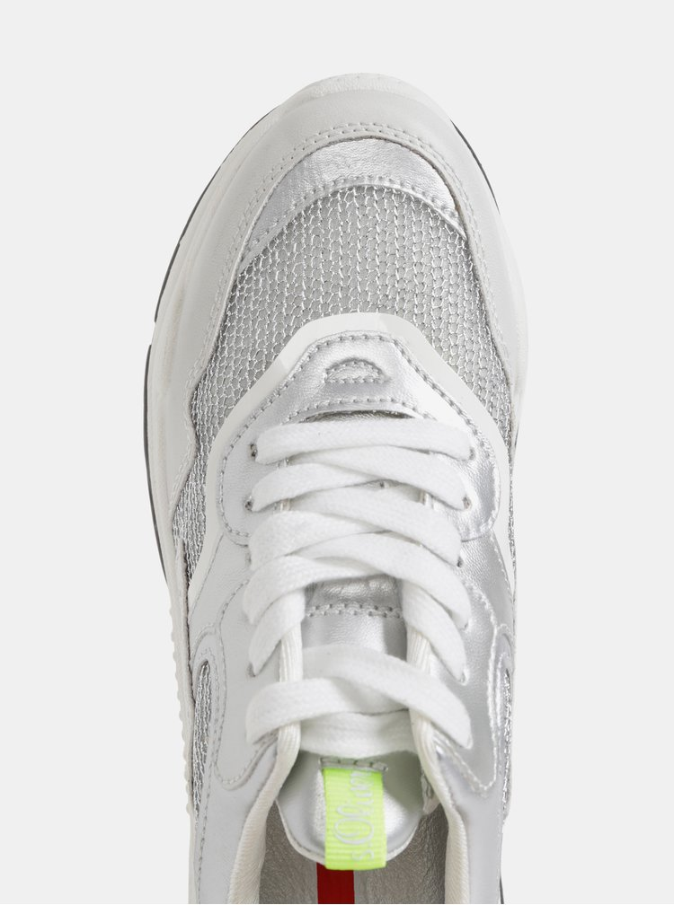 Dámske tenisky ve striebornej farbe s.Oliver