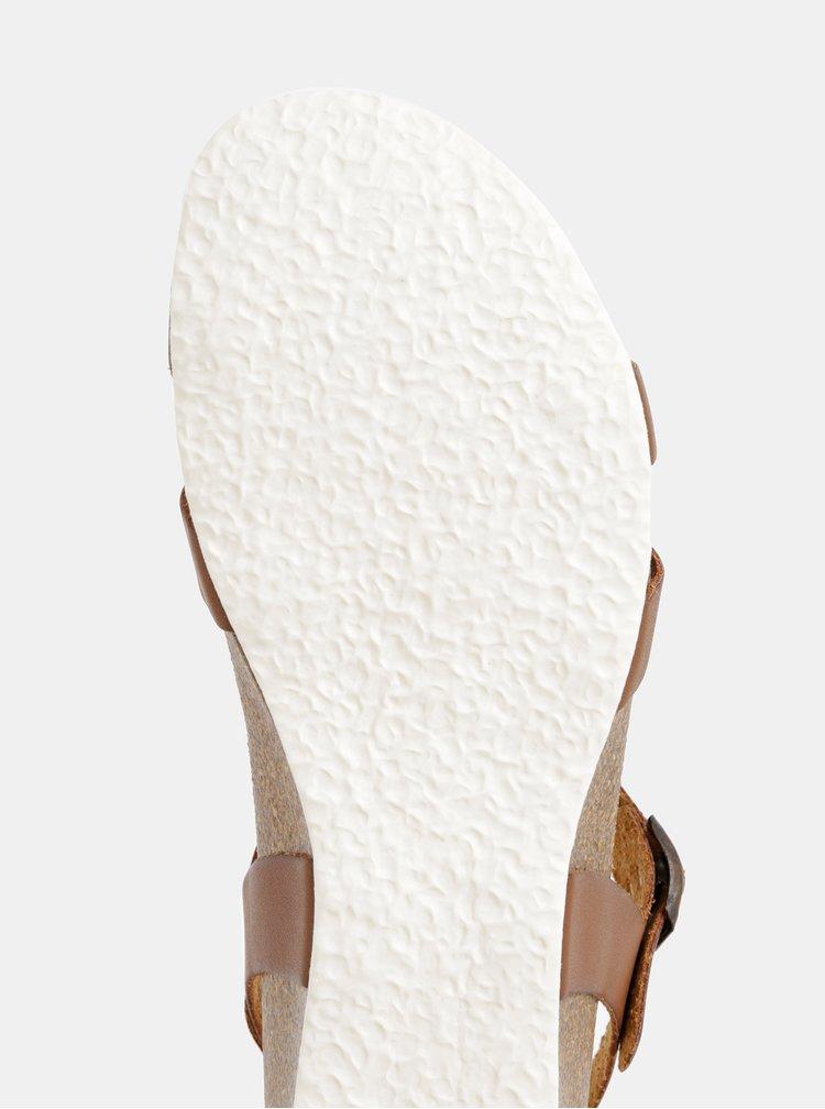 Hnedé sandáliky na kline OJJU
