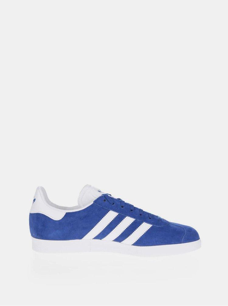 Modré semišové tenisky adidas Originals Gazelle