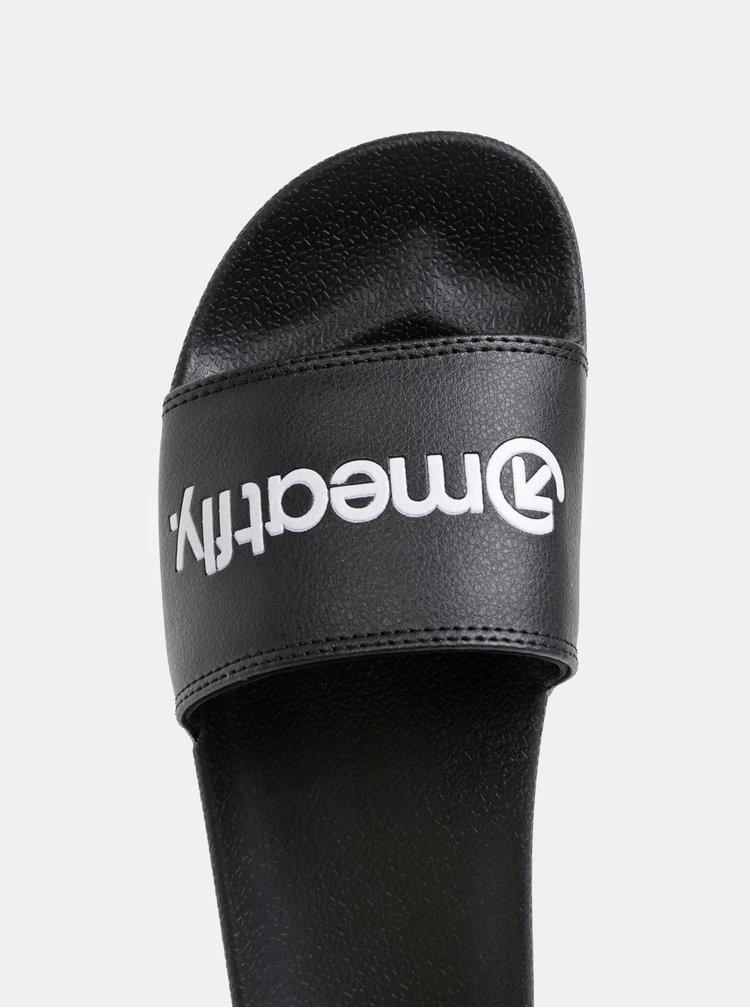 Černé dámské pantofle Meatfly Hudson
