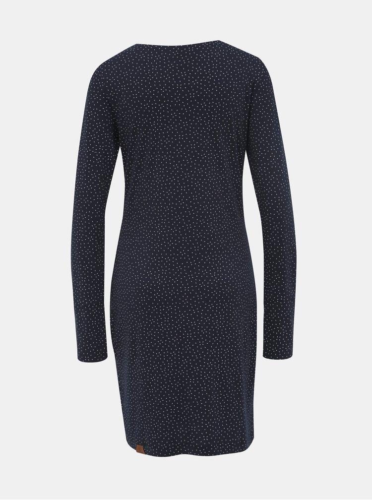 Tmavě modré vzorované šaty Ragwear River