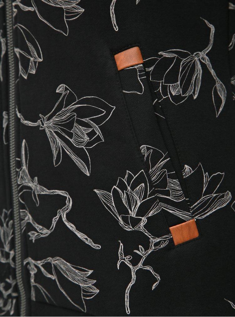 Čierna dámska kvetovaná mikina Ragwear Izolda Magnolia