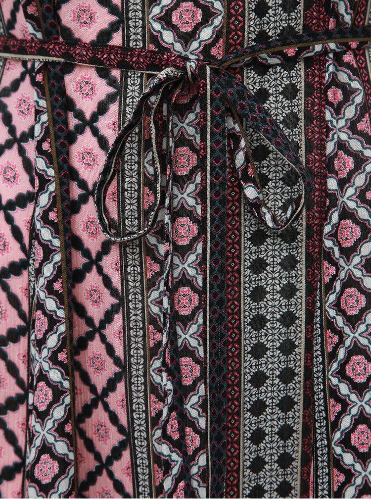 Šedo-růžové vzorované midišaty M&Co Han