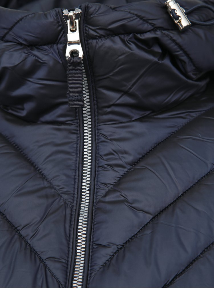 Tmavě modrý zimní kabát M&Co