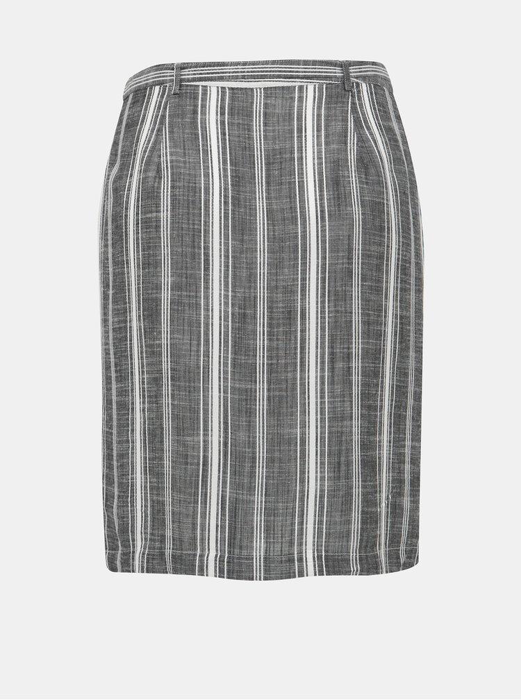 Šedá pruhovaná sukně M&Co Petite Thru
