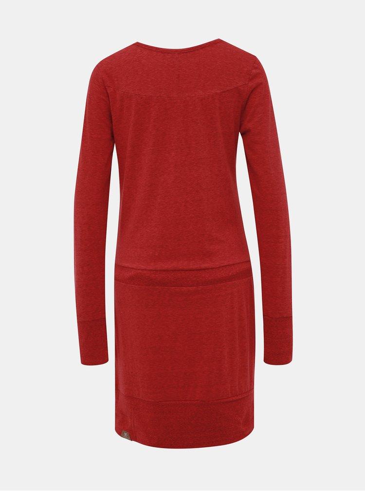 Červené žíhané šaty Ragwear Alexa