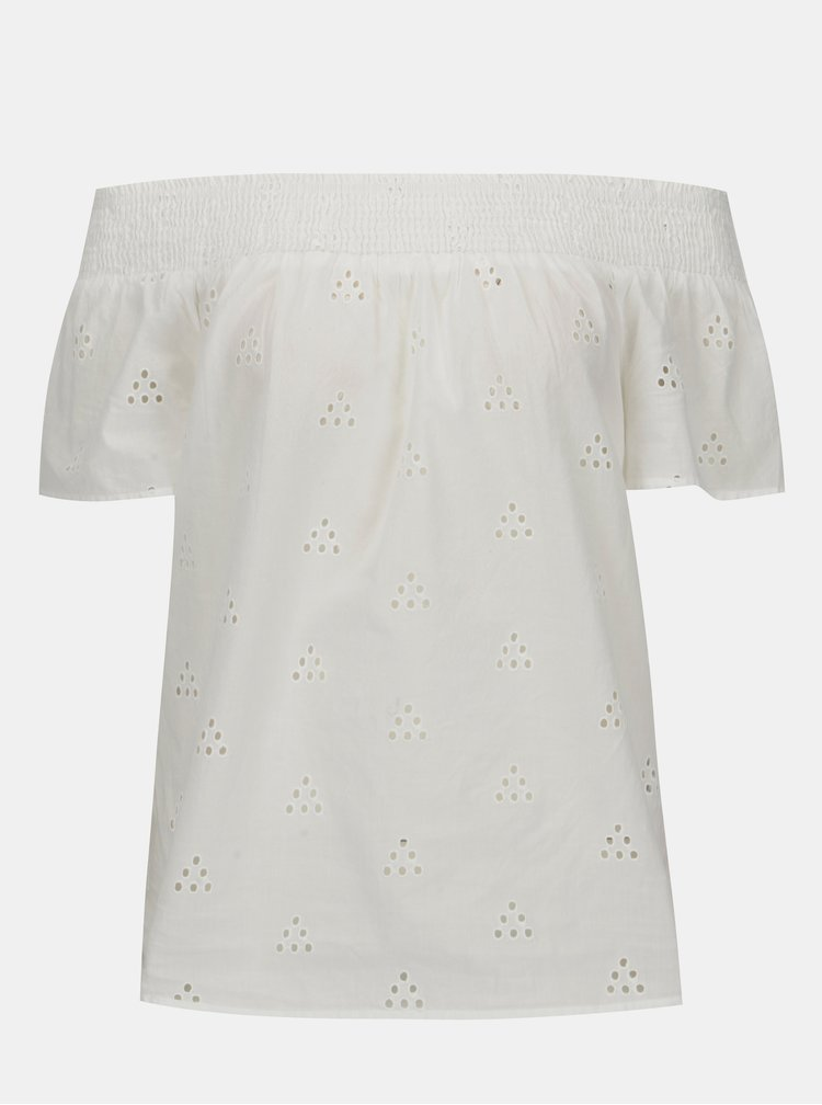 Bílá halenka s odhalenými rameny VERO MODA Romantic