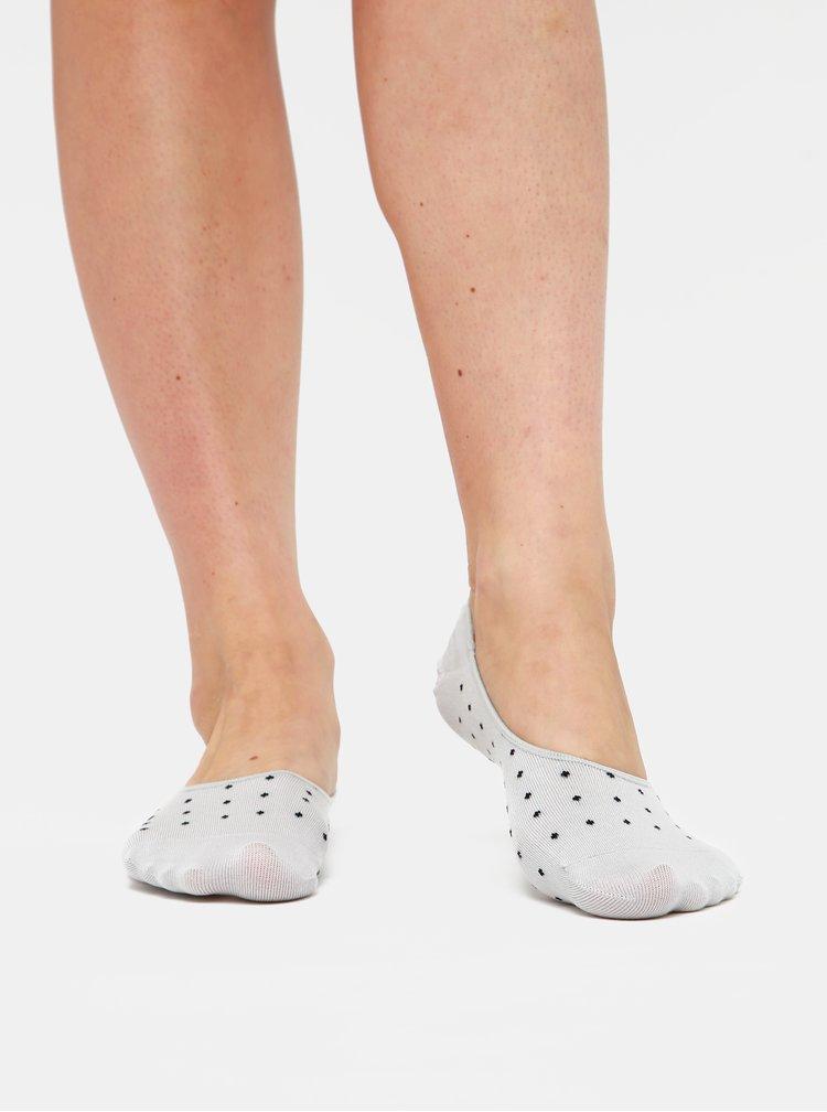 Sada tří párů dámských nízkých ponožek v růžové, bílé a šedé barvě Meatfly