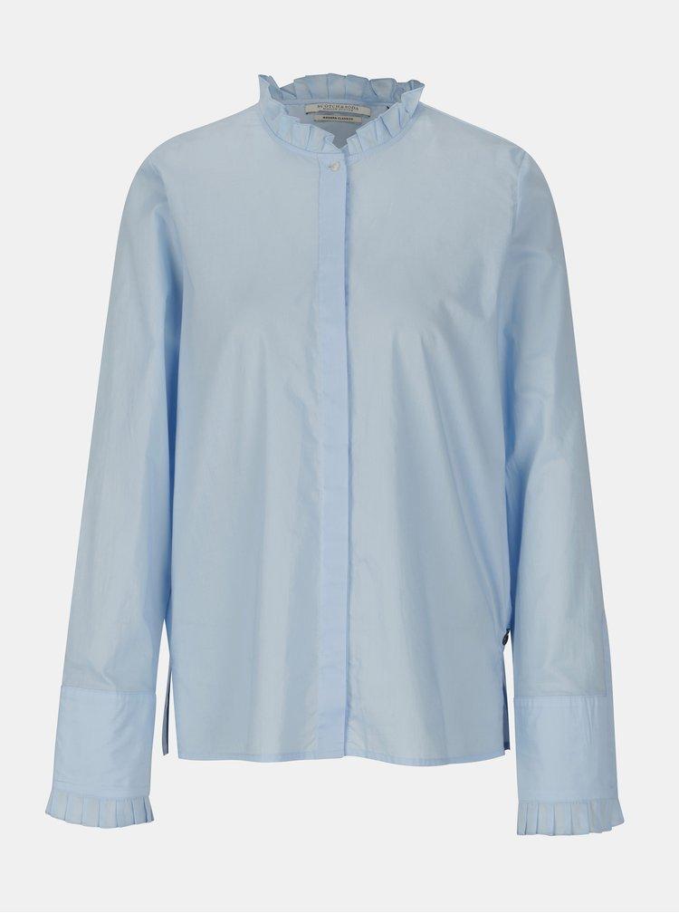 Svetlomodrá košeľa s volánmi Scotch & Soda