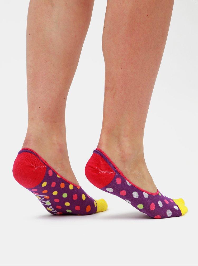 Sada troch párov dámskych nízkych ponožiek vo fialovej, čiernej a šedej farbe Meatfly