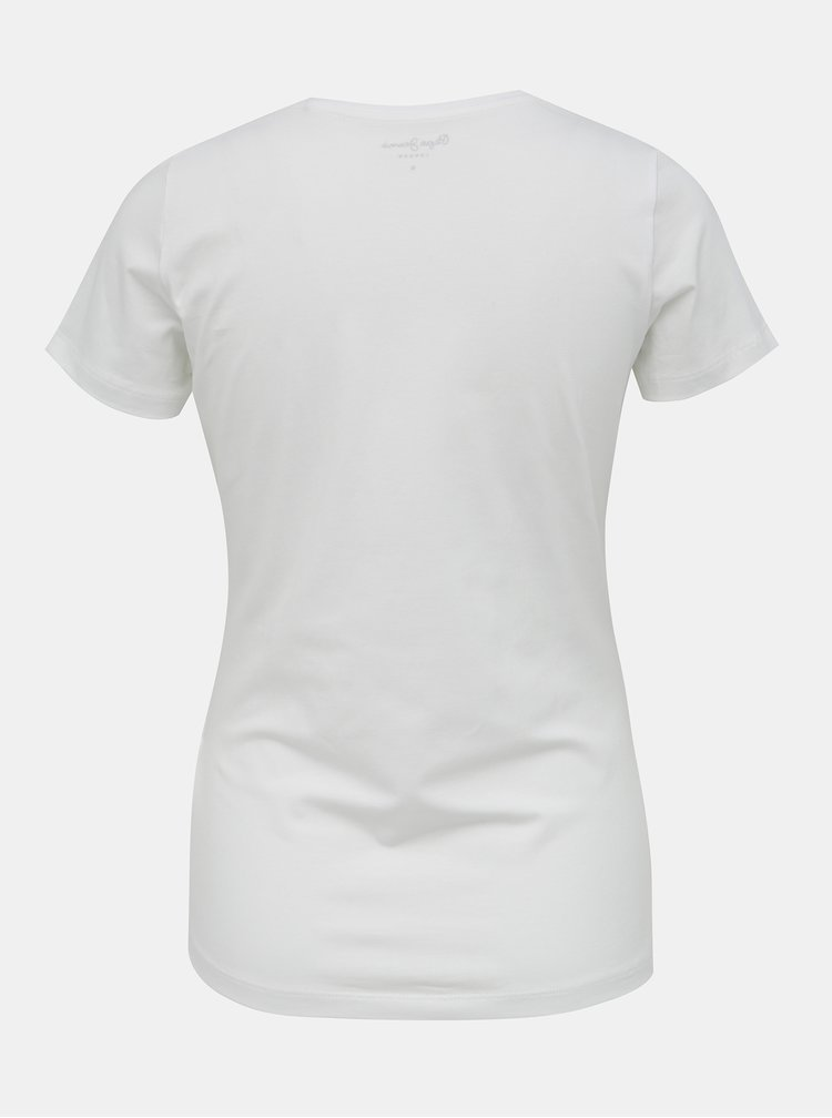 Bílé dámské tričko s potiskem Pepe Jeans New Virginia