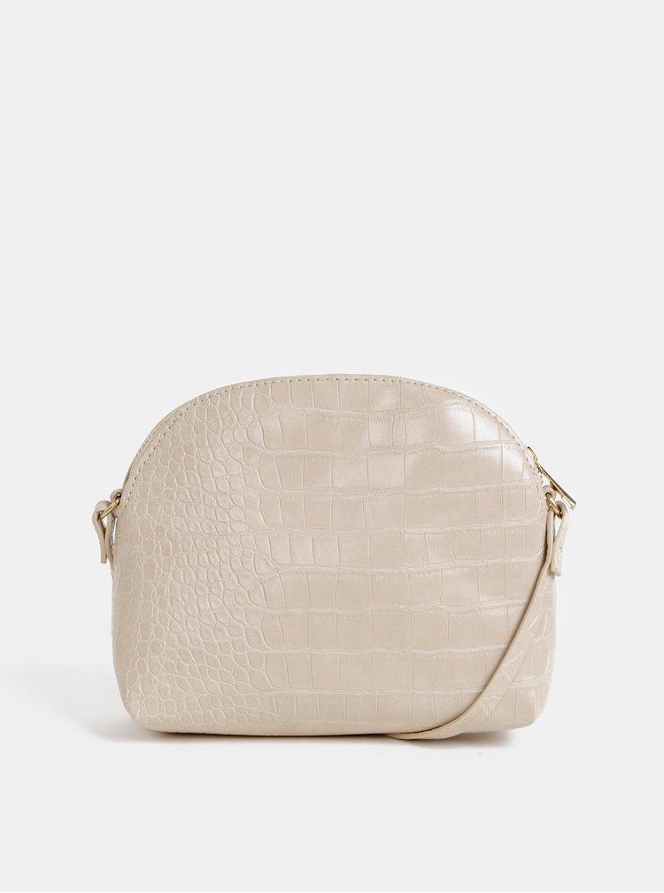 Béžová crossbody kabelka s krokodýlím vzorem Haily´s Camilla