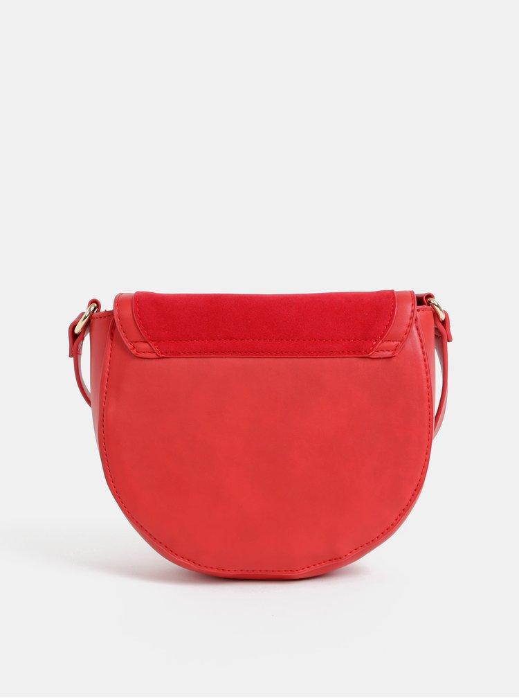 Červená crossbody kabelka v semišové úpravě Haily´s Ciara