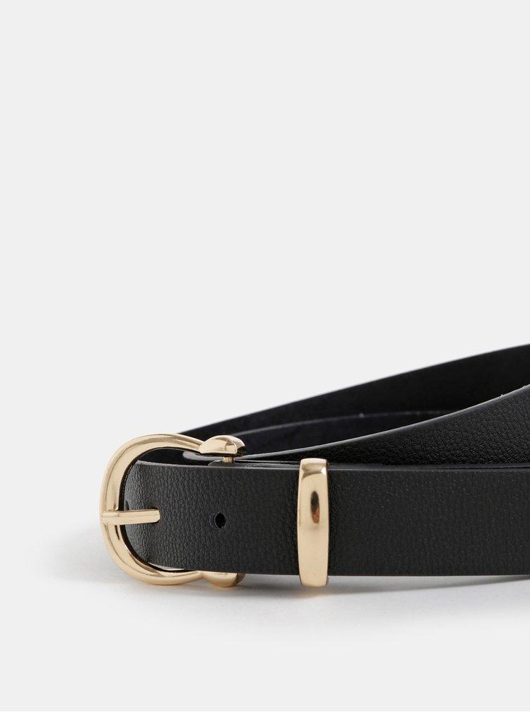Černý dámský kožený pásek Haily´s Ayla