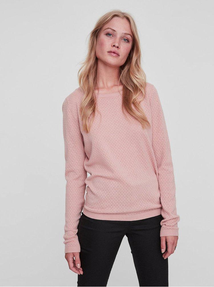 Svetloružový sveter VERO MODA Care