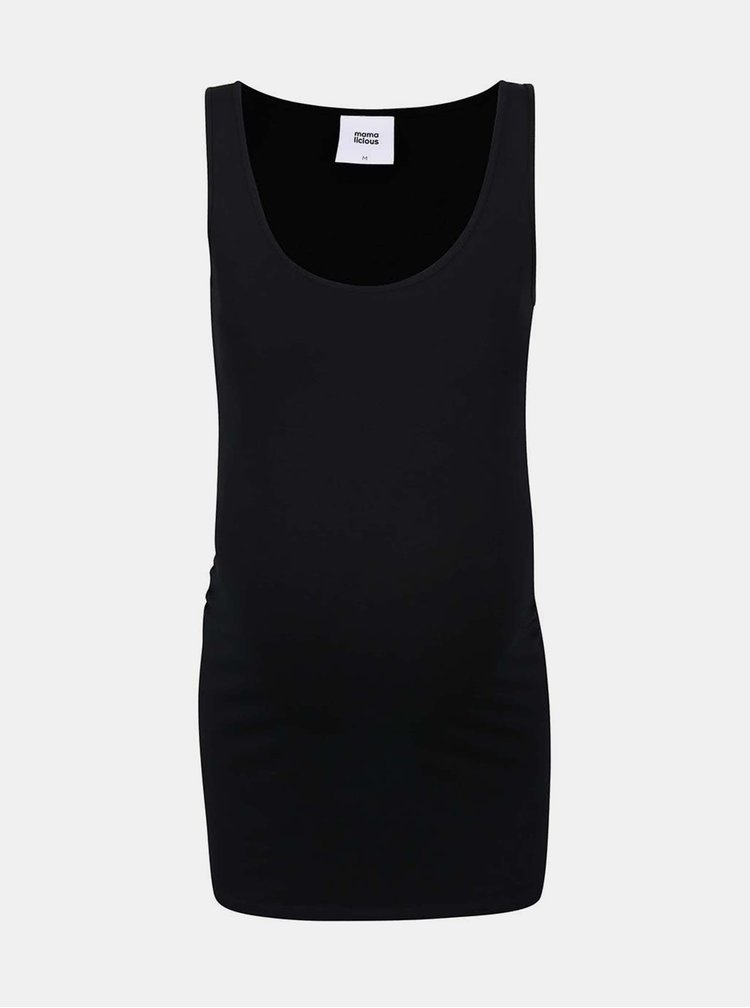 Sada dvou těhotenských basic tílek v černé a krémové barvě Mama.licious Lea