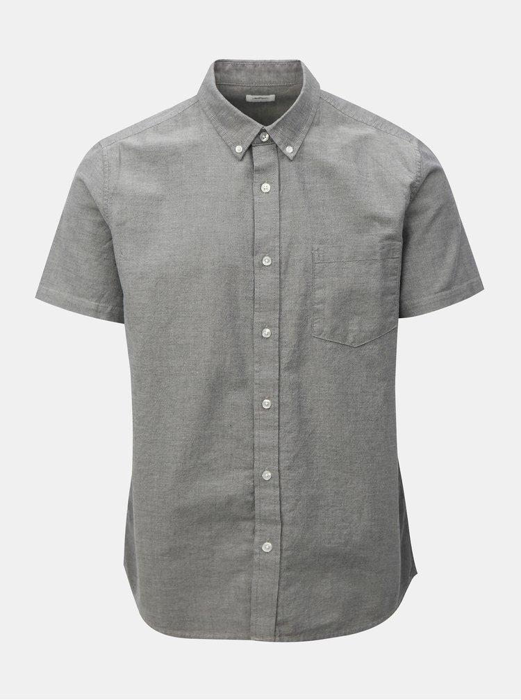 Camasa gri deschis cu guler buttons-down Burton Menswear London