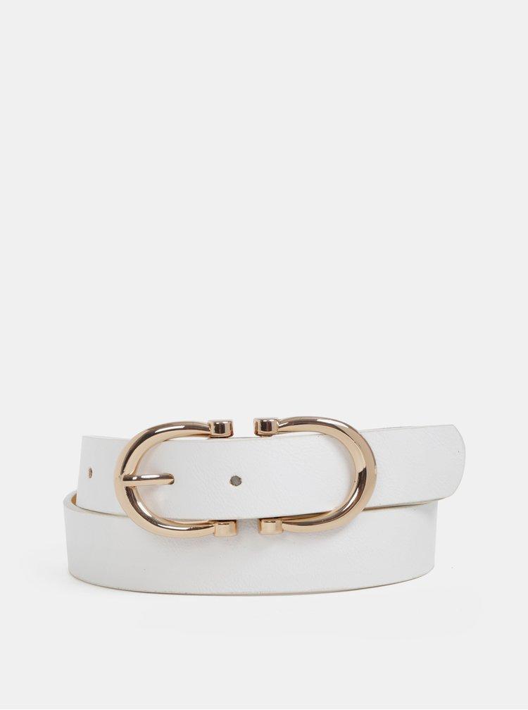 Bílý dámský kožený pásek Haily´s Harmonie