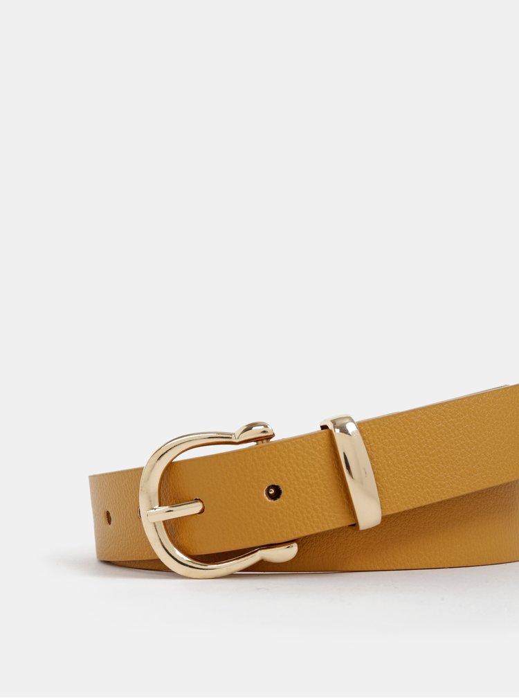 Horčicový dámsky kožený opasok Haily´s Ayla