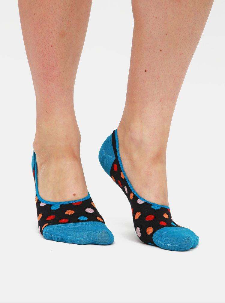Sada tří párů dámských nízkých ponožek v šedé, modré a černé barvě Meatfly