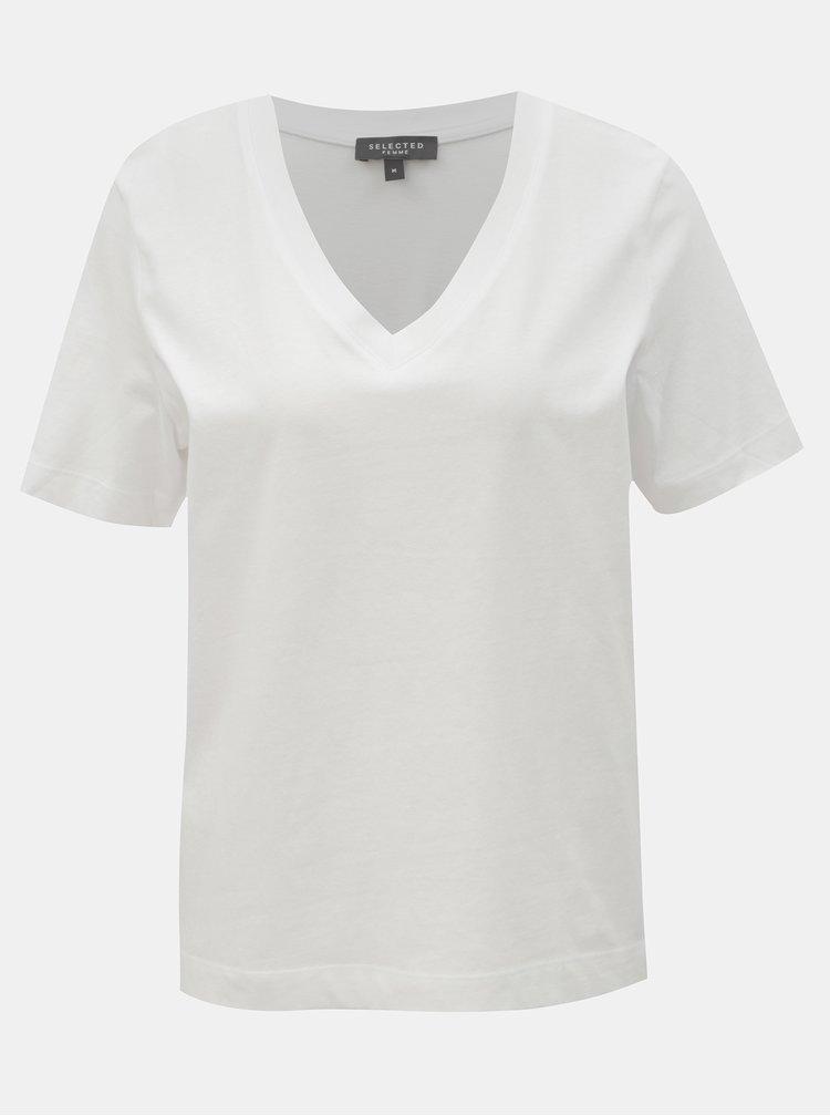 Bílé basic tričko Selected Femme Standard