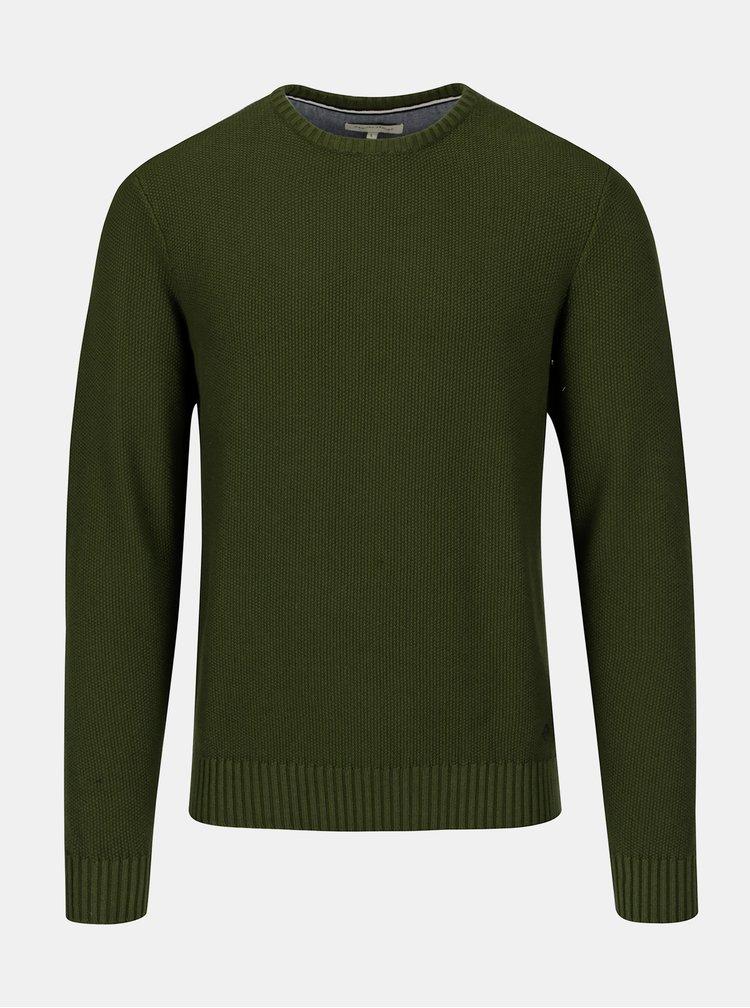 Tmavě zelený basic svetr Casual Friday by Blend