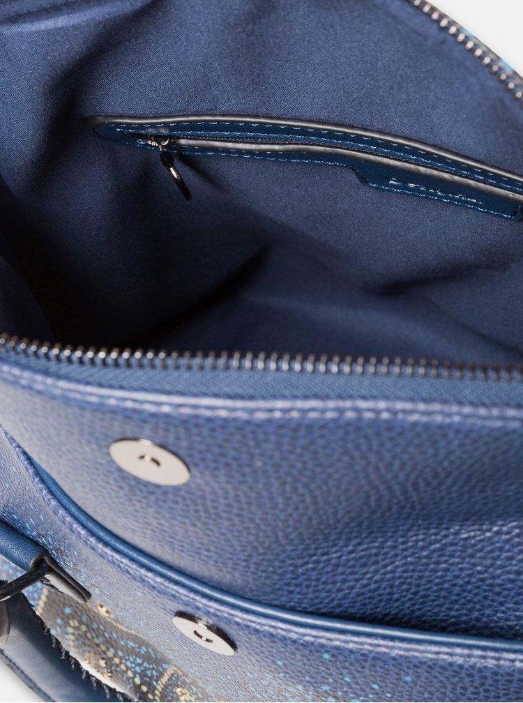Tmavě modrá vzorovaná kabelka Desigual Tekila Sunrise