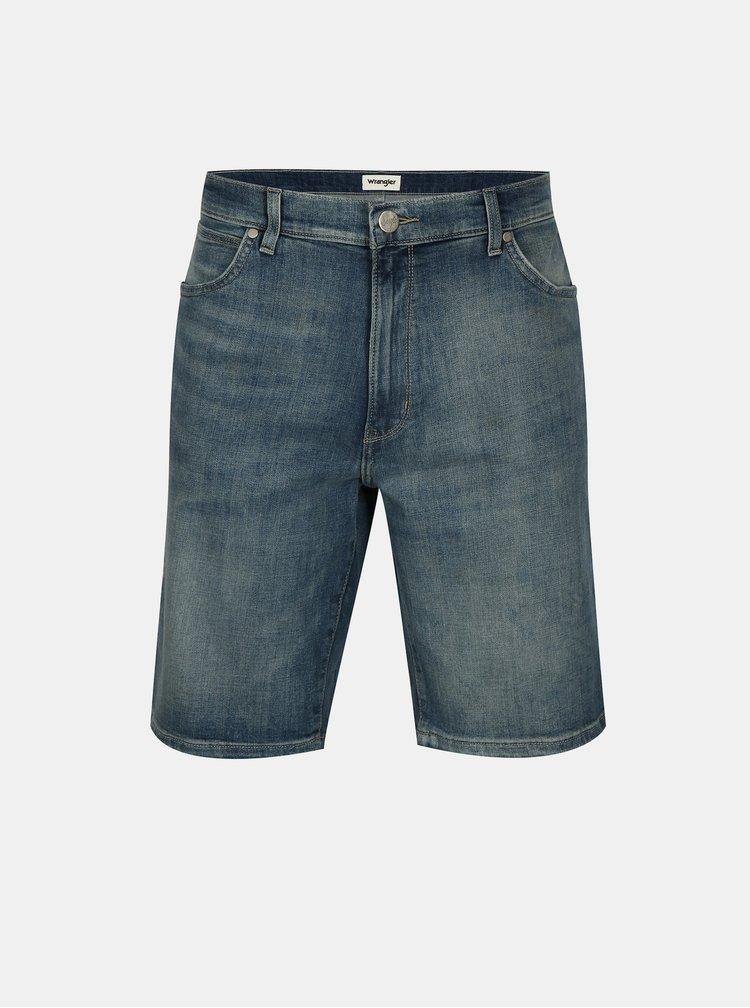 Modré pánské džínové kraťasy Wrangler