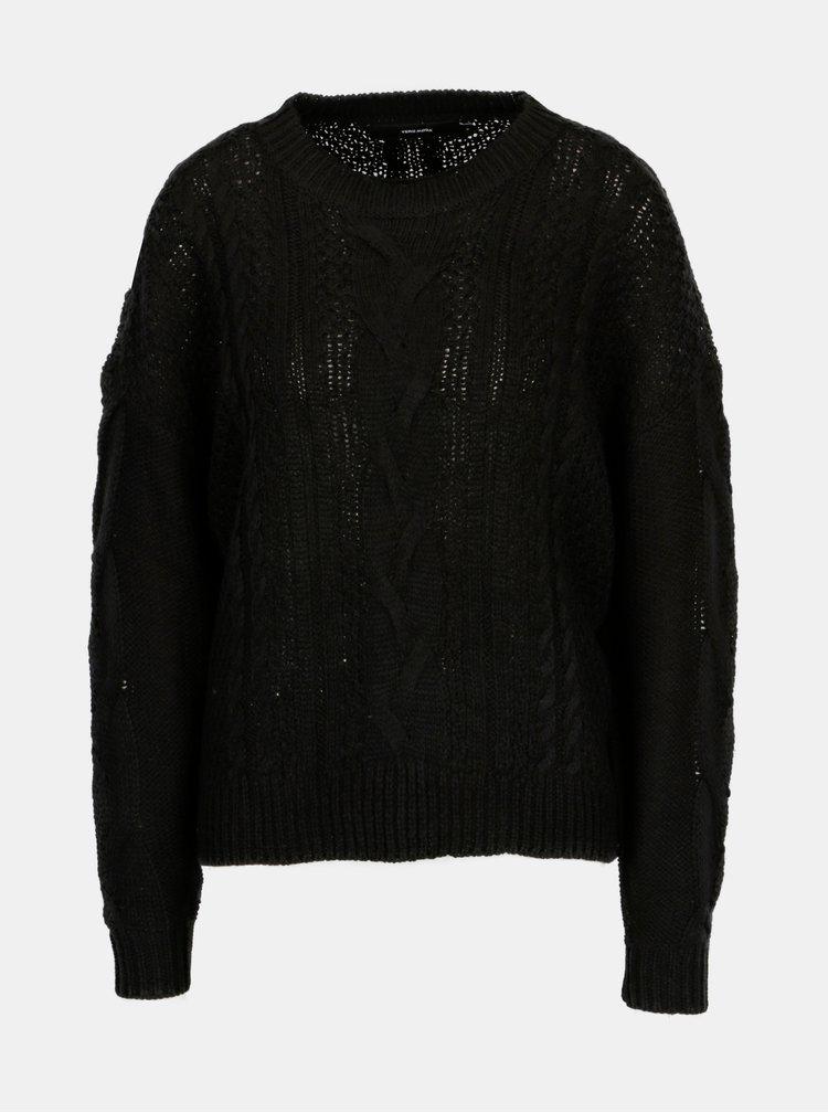 Černý svetr VERO MODA Wale