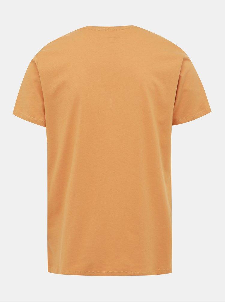 Žluté pánské tričko s potiskem Pepe Jeans Eggo