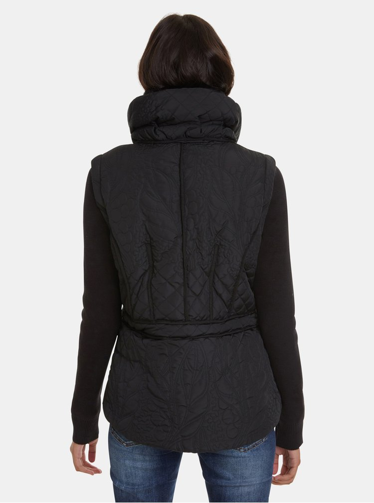 Čierna zimná bunda/vesta Desigual Nivy