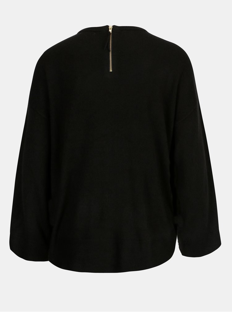 Čierny sveter s 3/4 rukávom Jacqueline de Yong Pace