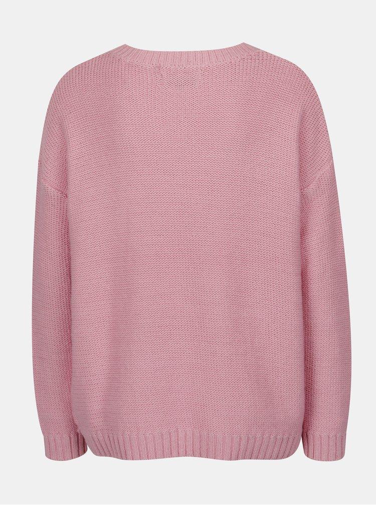 Pulover roz cu umeri cazuti Blendshe Jelma