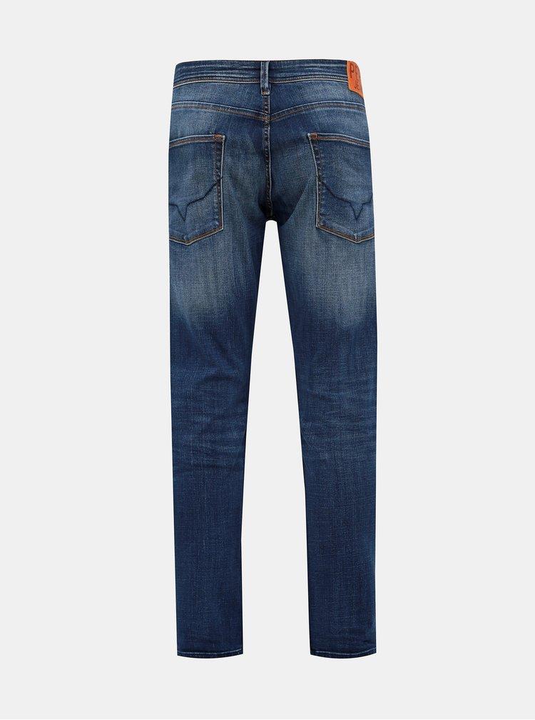 Modré pánske refular fit rifle Pepe Jeans Cash Ocean