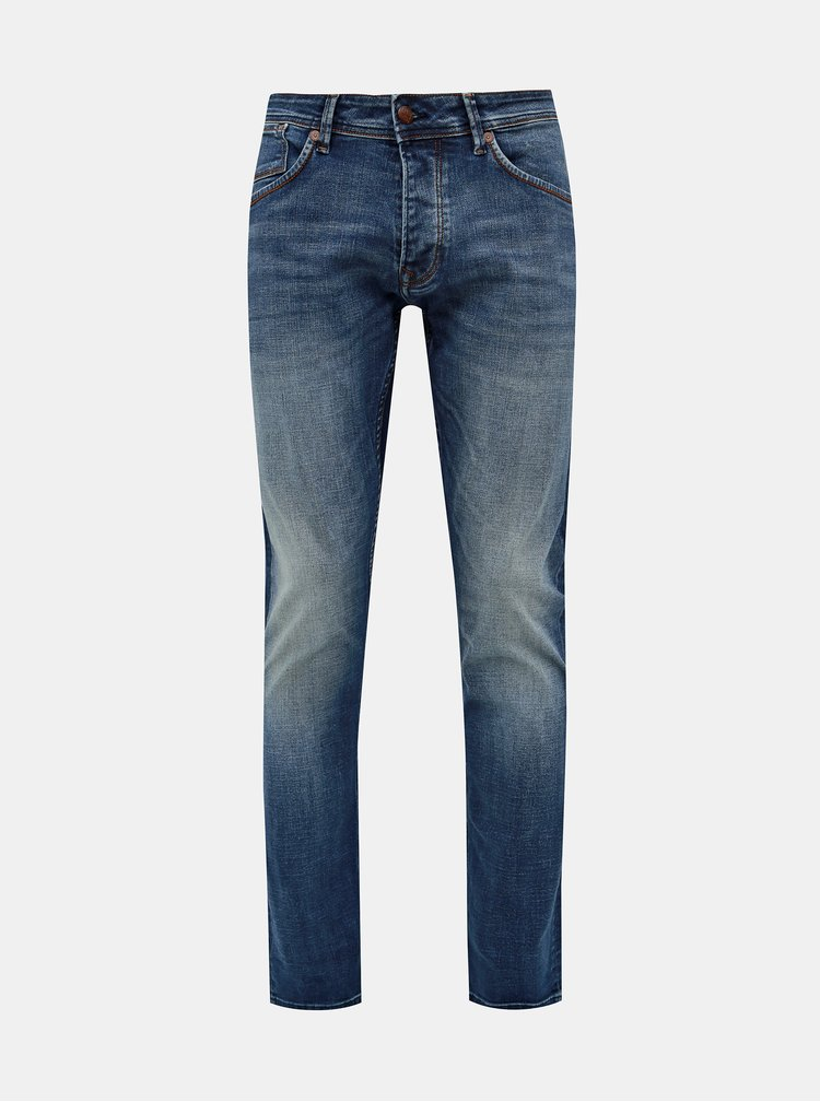 Modré pánske regular fit rifle Pepe Jeans Cash Ocean