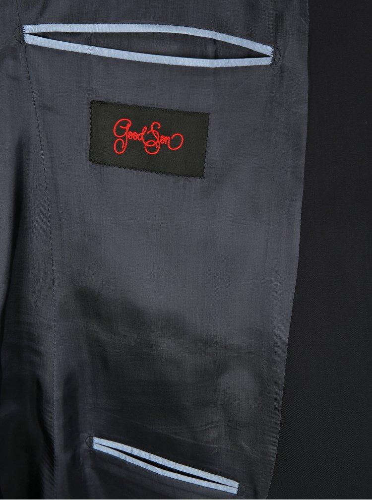 Modročierne oblekové vlnené sako Good Son