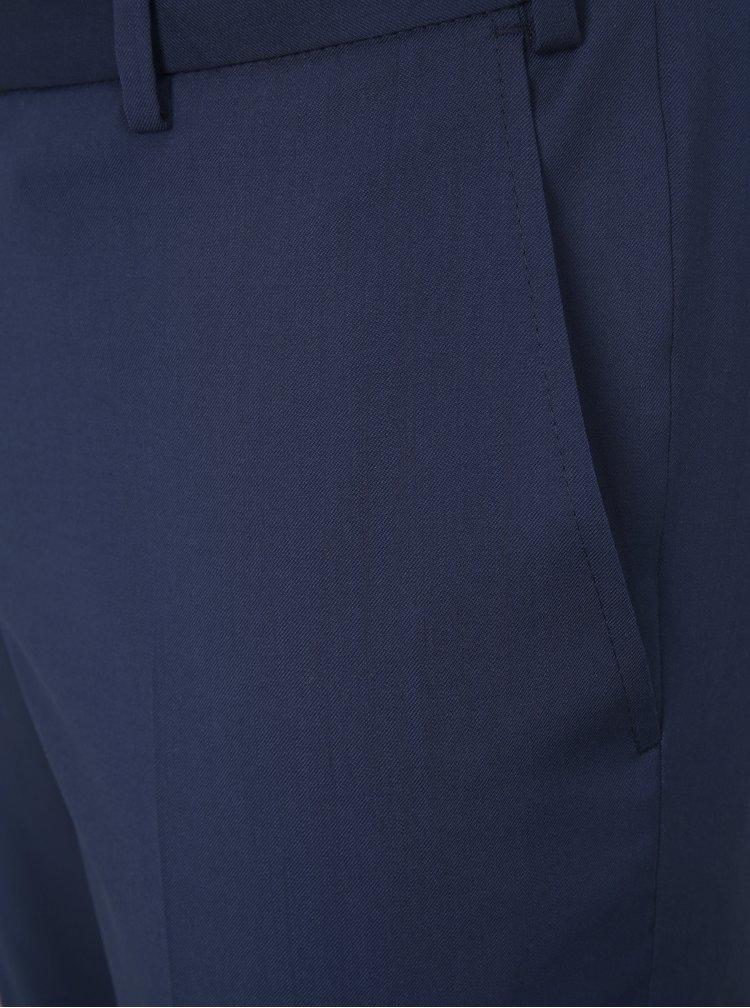 Pantaloni formali albastri din lana Good Son