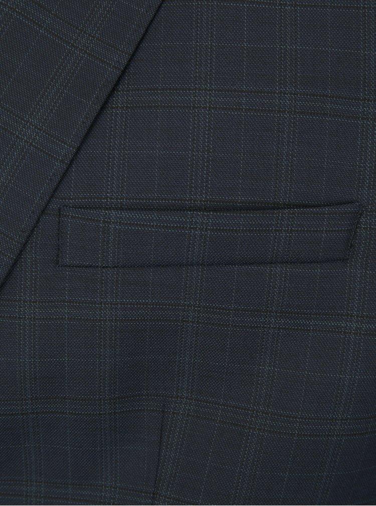 Tmavě modré oblekové sako s drobným vzorem Selected Homme Done Buffalo