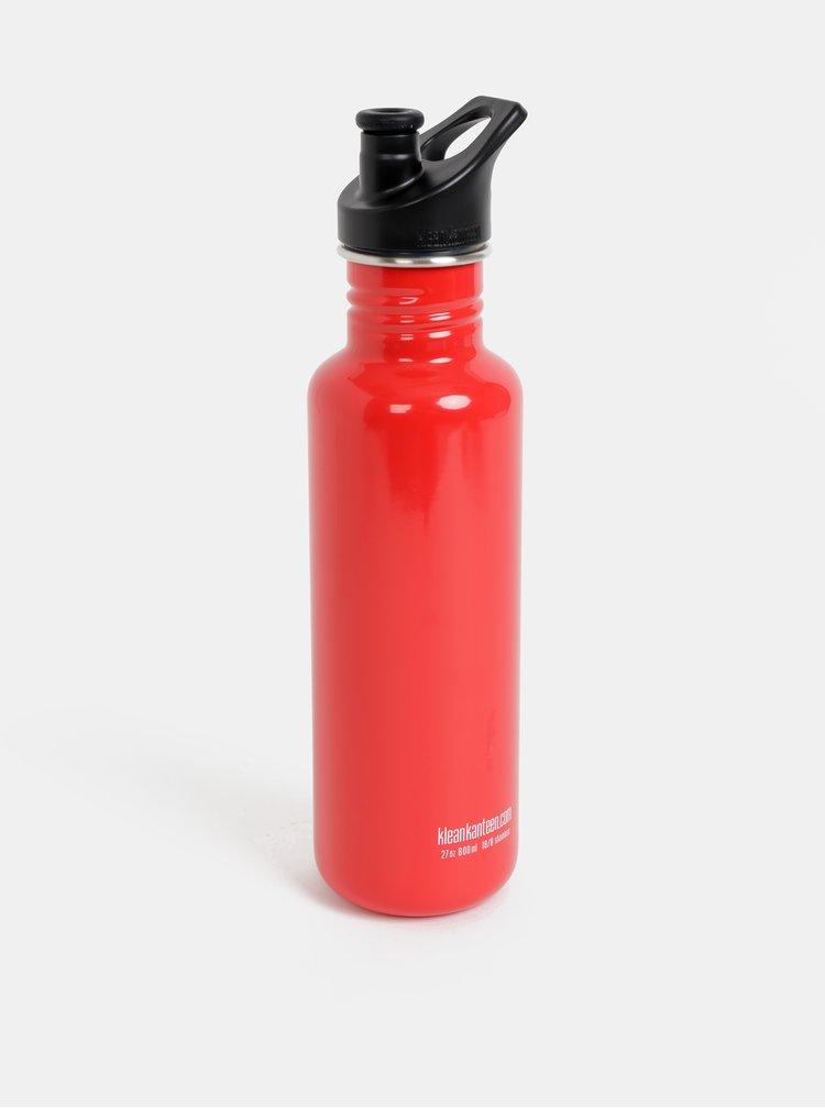 Červená nerezová láhev Klean Kanteen 800ml