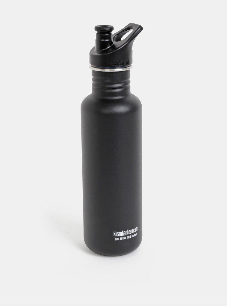 Černá nerezová láhev Klean Kanteen 800ml