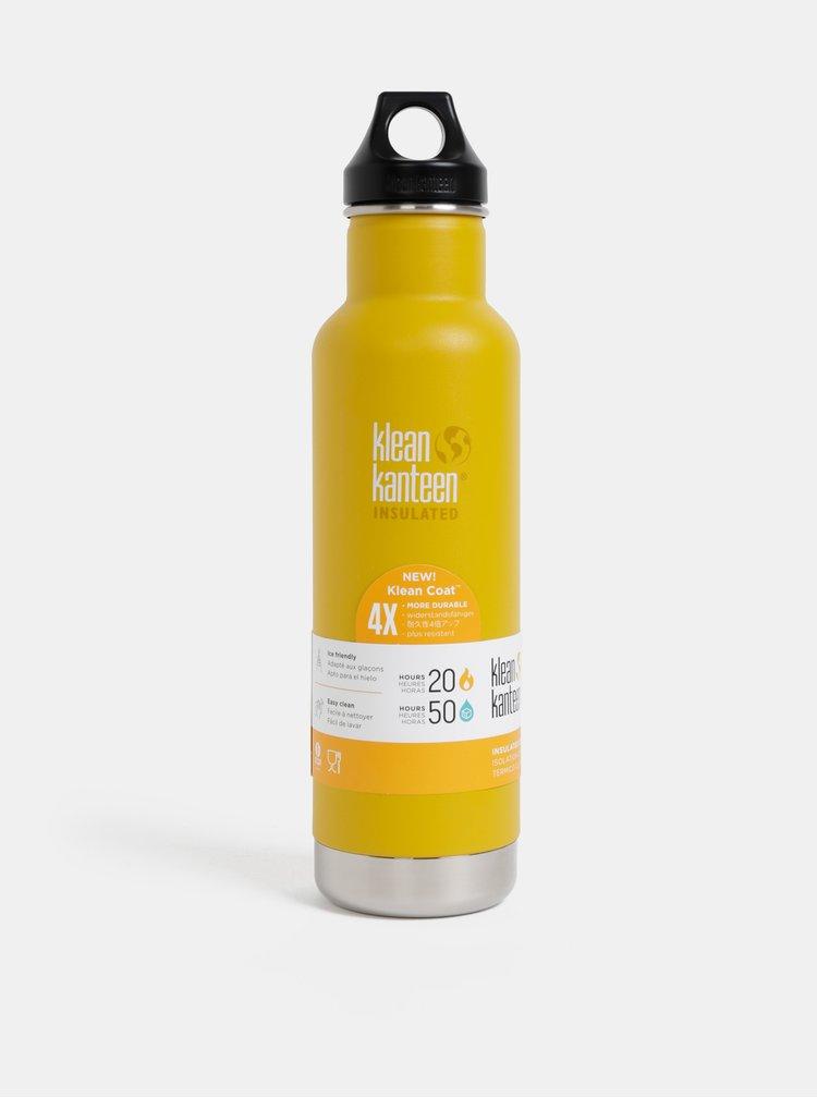 Hořčicová nerezová termoláhev Klean Kanteen 592 ml