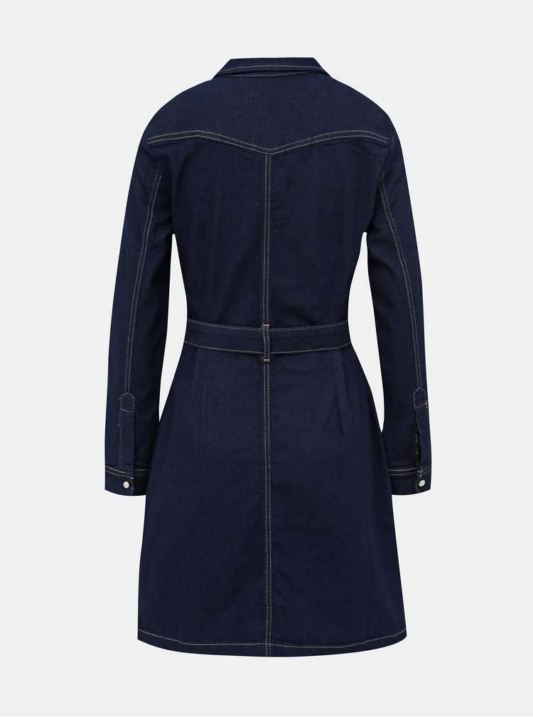 Modré džínové košilové šaty Dorothy Perkins