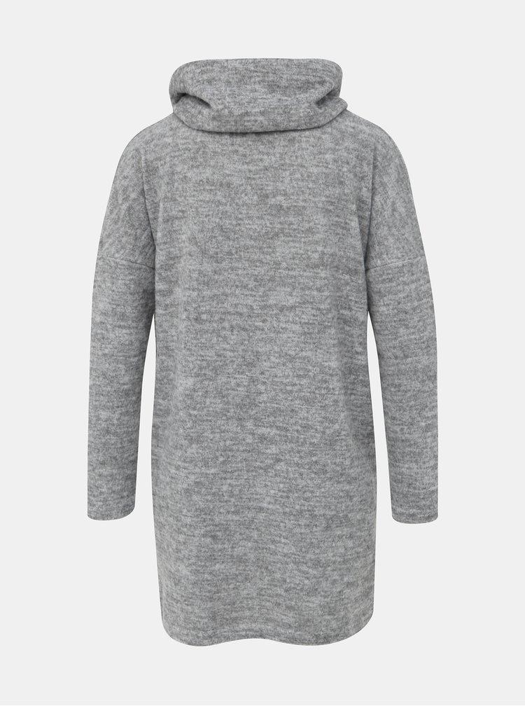 Šedý dámský žíhaný svetr Haily´s Maja