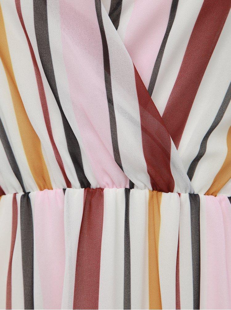 Bílo-růžové pruhované šaty Haily´s Lina