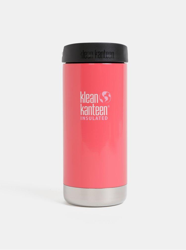 Růžový nerezový termohrnek Klean Kanteen 355 ml