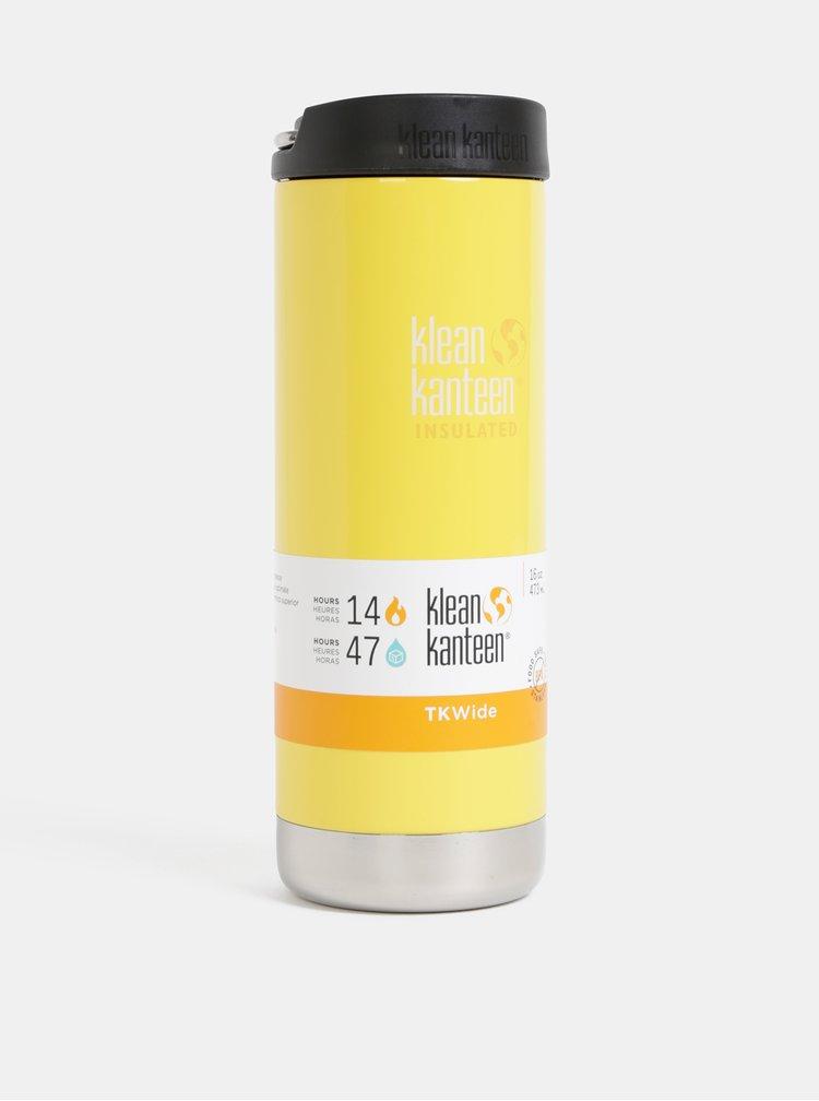 Žlutý nerezový termohrnek Klean Kanteen 473 ml