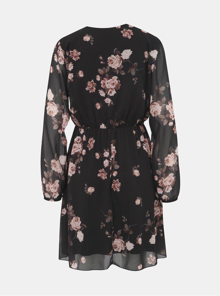 Černé květované šaty Haily´s Lina