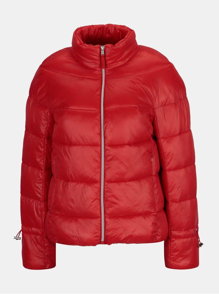Červená zimní prošívaná bunda VERO MODA Ramona